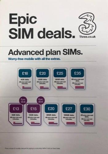 Epic SIM Deals at 3…