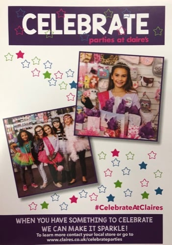 Celebrate Parties at Claire's…