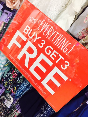 Buy 3 get 3 FREE at Claire's