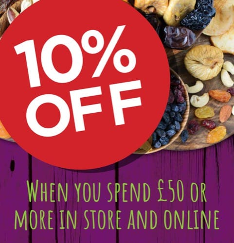 Spend £50 at Grape Tree and get 10% OFF