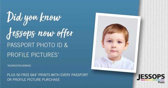 Get your new passport photo at Jessops