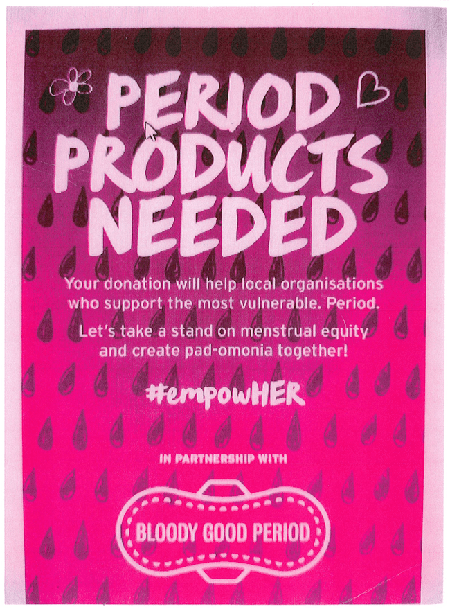 Donate Period Products to The Body Shop