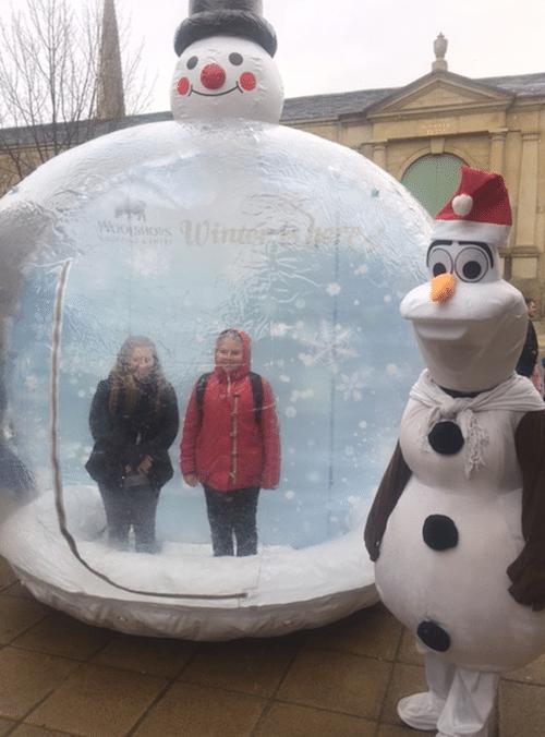 Visit Our Christmas Snow Globe